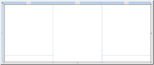 Grid layout - 3 columns, with 2-row grids in the left and right columns