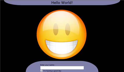 Click to launch Hello World ViewModel in Silverlight